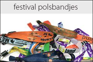 Festival polsbandjes keuzemenu
