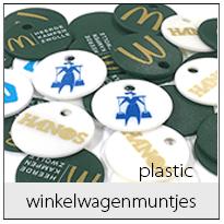 Plastic winkelwagenmuntjes